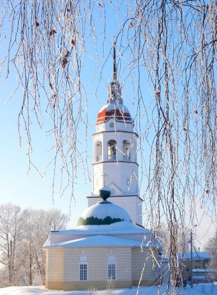 Храм Успения зимой