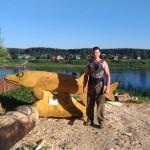 Фестиваль дереванных скульптур хозяйка Сухоны щука