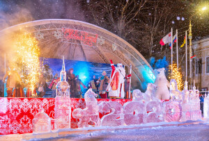 Дед Мороз на открытии в Тотьме (1)